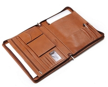 Zippered Leather Organizer Clutch Case for 13-Inch laptop