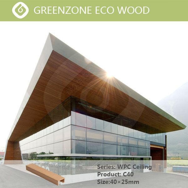 High quality Wood Plastic Composite indoor non-toxic modern wooden panels strips