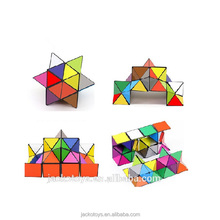 Colorful Folding Transforming Geometry Puzzle Magic Cube Toys