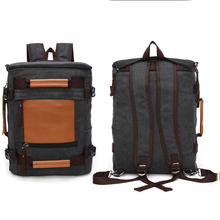 1BP0018 High Quality Laptop Fashionable Korean Cool Style Canvas Backpacks for Men
