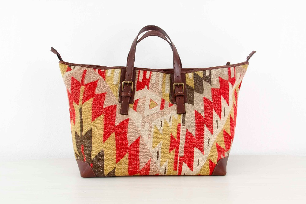 Kilim Bag - Kilim Luggage - Large Overnight Luggage - Weekender Bag - Carpet Bag- Tapestry Bag