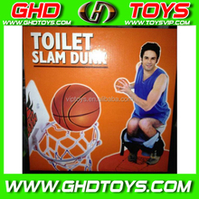Cheap colorful kids sport indoor toy toilet basketball