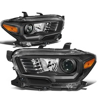 JDM Headlights For 2016 Tacoma 2016 2017 2018 Projector headlight black head lamp