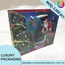 Art paper Christmas gift Packaging bags luxury Christmas Bag wholesale