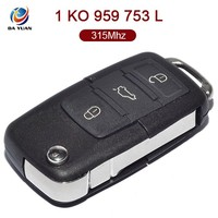 AK001058 for VW Original Folding Key 3 Button 1 KO 959 753 L 315Mhz