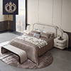 wholesale super king size bedroom furniture latest double bed large headboard design furniture leather sleeping bed