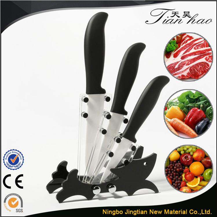 China manufacturers ceramic Chef Line Knife Set