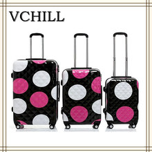factory polka dots cute travel luggage bag hard case luggage