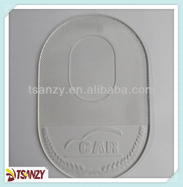 Transparent car sticky mat/car sticky pad,dashboard anti slip mat