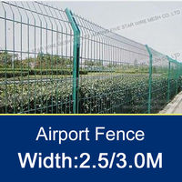 2-6 Folds Pvc Coated Welded Road Fence
