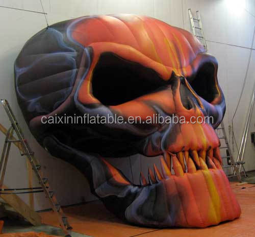 Inflatable Skull for promotion,giant halloween inflatables