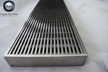 Free sample heavy duty drainage gutter with stainless steel grating cover, stainless steel pool drain cover