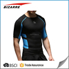 Tight fitted gym print t shirt 94% polyester 6% elastane custom mens tshirt for fitness wear