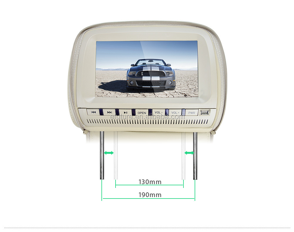 headrest dvd 2015 china 9 inch car headrest DVD with USB, SD, DVD, MP5, Game