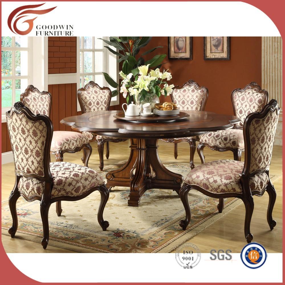 De gama alta mesa de comedor de madera y sillas wa163 sets for Mesa alta comedor
