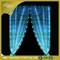 light emitting fiber optics fabric luminous led french style door lace curtains