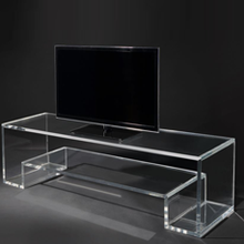 Mirror clear acrylic lucite vanity dressing table with drawers