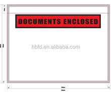 shipping documents enclosed packing list envelope