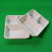 Disposable Divided Food Plate with Lids/Biodegradable Tableware