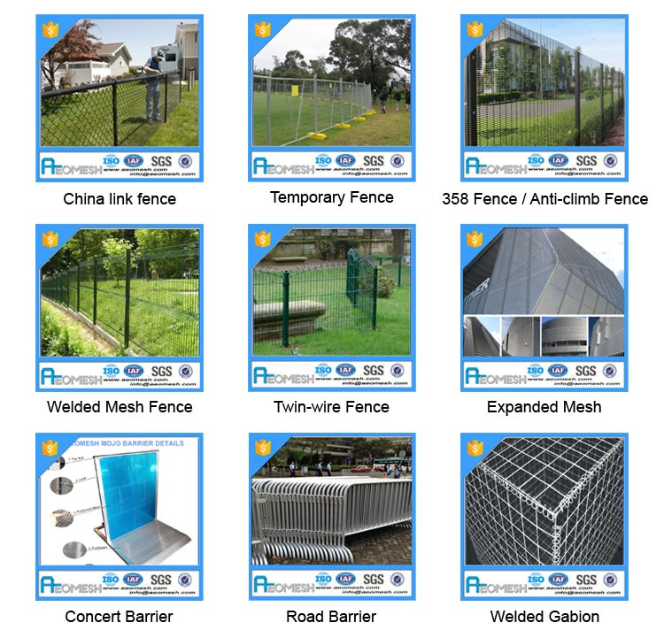 Design of school gate pvc galvanized airport fence