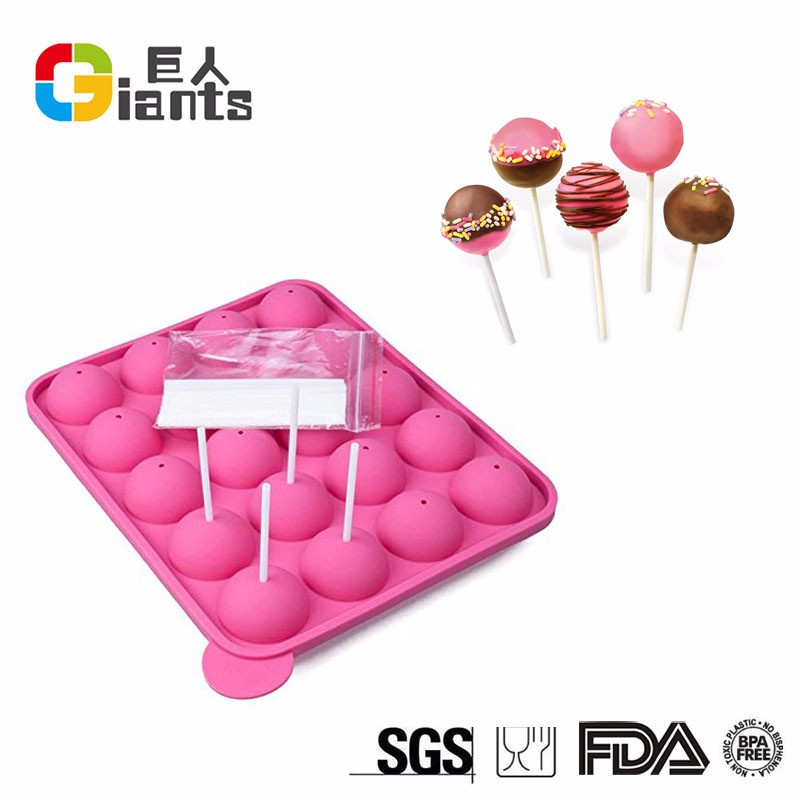 2017 Silicone Pink Lolly Pop Mold/Cake Pop Stick Mold Tray