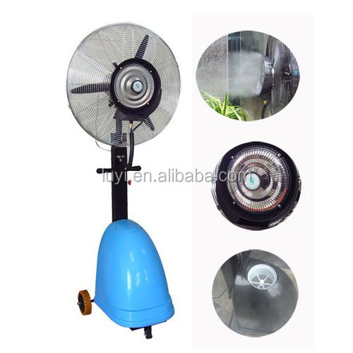electric fans with water spray