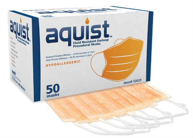 aquist Fluid Resistant Earloop Procedural Masks - Without Visor