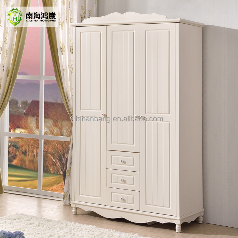 Flatpack Home Country Style 3 <strong>Door</strong> Wooden MDF Modern Bedroom Wardrobe Design