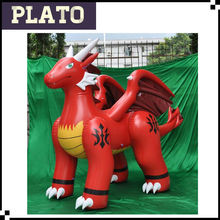 PVC inflatable dragon, inflatable red dragon for promotion
