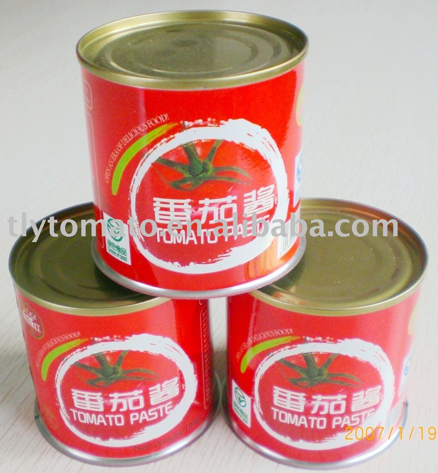 fresh tomato paste in canned