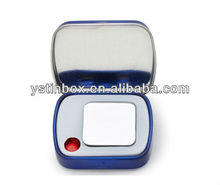 Recycle Material and accept custom order metal square makeup case with mirror