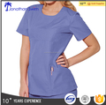 2017 fashion design with the soft material for hospital staff scrub uniform