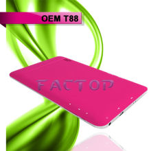 High quality android 4.0 tablet pc WIFI T88 phone call tablet pc