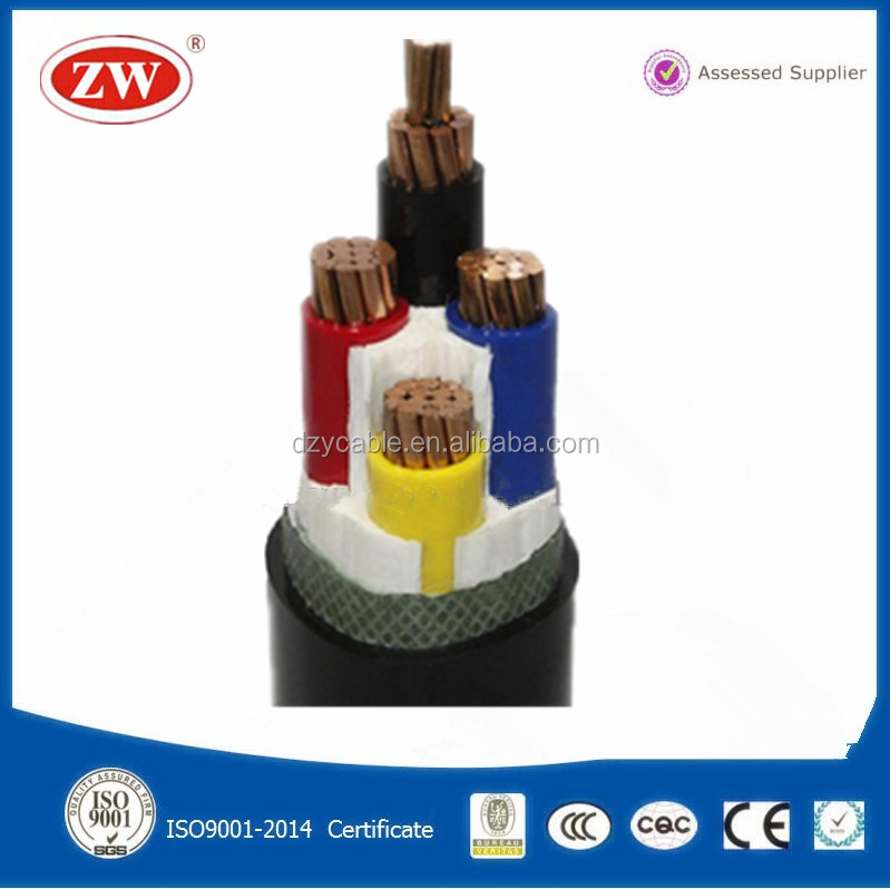 Good Quality PVC Material 3+1 core lv pvc insulation power cable