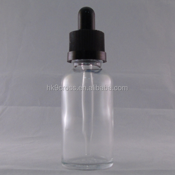 15 ml 30 ml e cigarette glass dropper bottle clear with package box