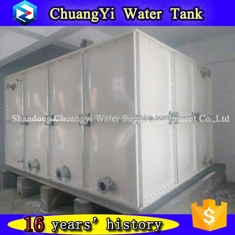 Chuangyi easy to Install rectangular grp water tank, grp frp water tank sudan, frp sectional water tank for industry