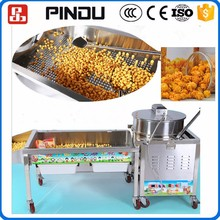 Large scale mini automatic flavored caramelized popcorn balls making machine for sale