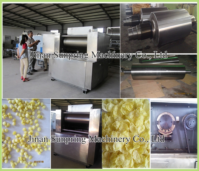 240kg/h Breakfast Cereals Corn Flakes Machine