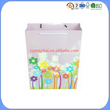 LED light up custom made packaging paper bag for shopping