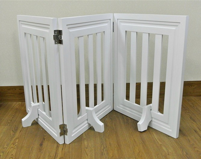Cheap price indoor wood folding adjustable pet fence