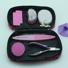 6 in 1 Nail Cleaning Tool Set Unique Girls Manicure Kit in Makeup Bag
