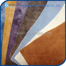 yangbuck plain surface pvc pu synthetic leather for sofa furniture