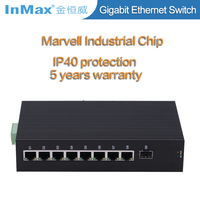 9 Ports 10 /100/1000M Gigabit network Switch with SFP slot i509A