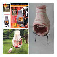 antique outdoor new design clay chiminea bbq