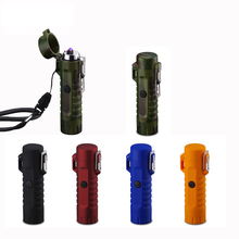 Fulljion usb lighter waterproof electric lighter usb charged lighter with flash light torch led flashlight