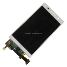 White front LCD display + touch screen digitizer assembly for Huawei Ascend P6