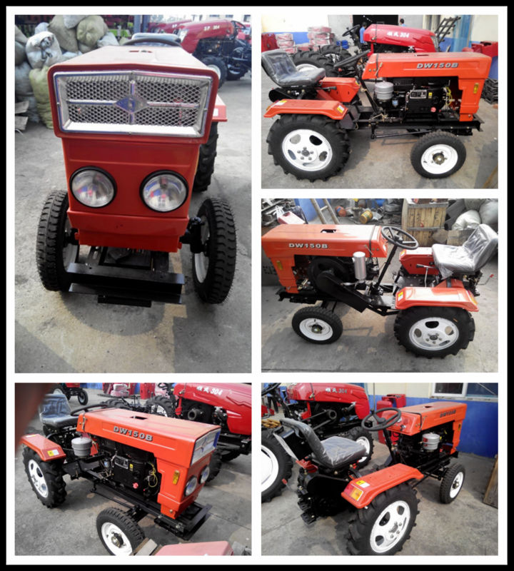 China mini compact 2wd 15hp 16hp tractor for sale