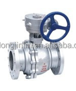 gear operated ball valve astm a105 / a216 wcb