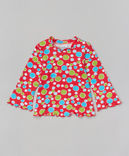 Fashion Girls Tops With Red Bubble Dot Cute Girls Tshirt Fancy Kids Clothes Z-GT80804-14