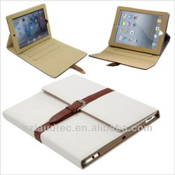 for ipad air notebook case, fashion PU Stand case for ipad 5